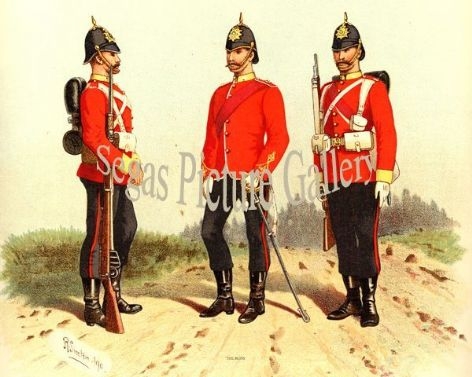 Fine art print of the British Military of The Buffs by Richard Simkin